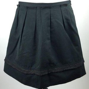 Mossimo Skirt Size 8 Black Lace Full Pleated